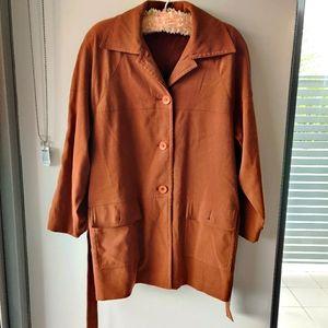 Vintage Liz Jordan   Camel colour long coat/jacket